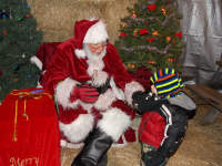 Santa Visits Our Cedarburg Farm